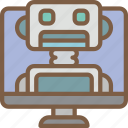 artificial, assistant, computer, intelligence, machine, robot icon