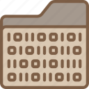 artificial, binary, folder, intelligence, machine, robot icon