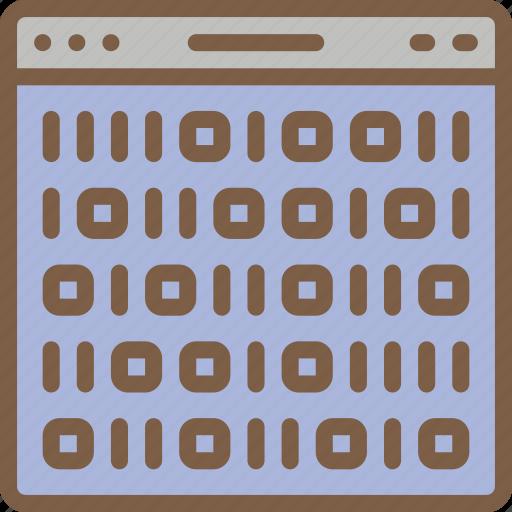 artificial, binary, intelligence, machine, online, robot icon