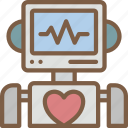 artificial, bot, heartrate, intelligence, machine, robot icon