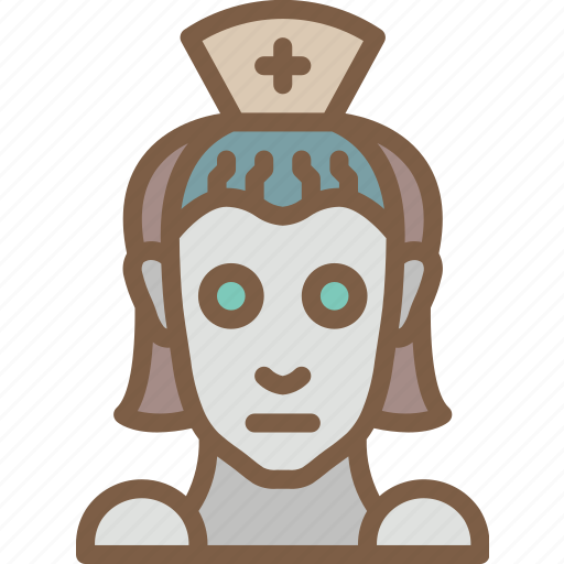 android, artificial, intelligence, machine, nurse, robot icon