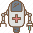 artificial, bot, intelligence, machine, medical, robot icon