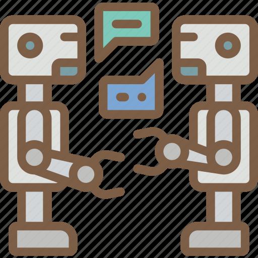 artificial, bot, conversation, intelligence, machine, robot icon
