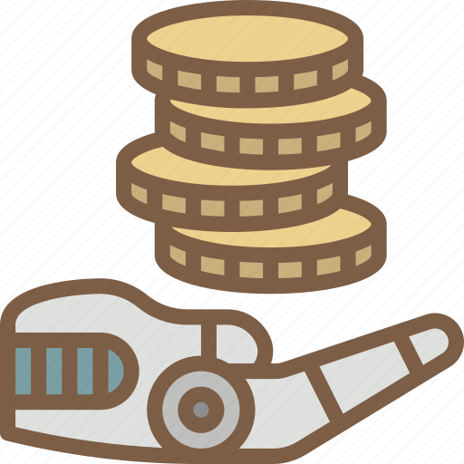 android, artificial, finance, intelligence, machine, robot icon