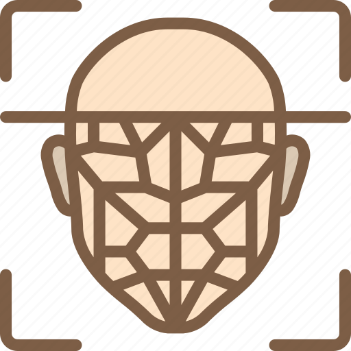 artificial, facial, intelligence, machine, recognition, robot icon