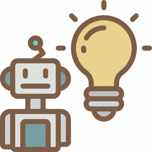 artificial, intelligence, machine, robot, solution icon