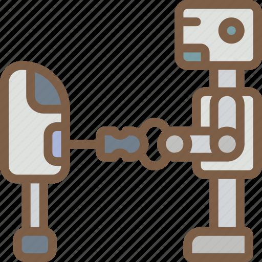 artificial, bot, intelligence, machine, repairing, robot icon