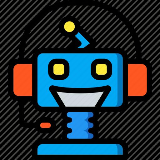 artificial, bot, chat, intelligence, machine, robot icon