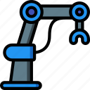 arm, artificial, intelligence, machine, mechanical, robot icon