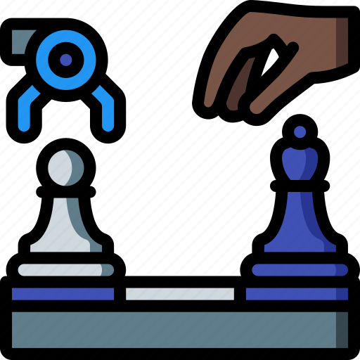 artificial, chess, intelligence, machine, robot icon