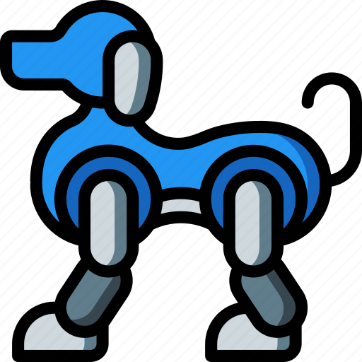 artificial, bot, dog, intelligence, machine, robot icon