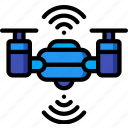 artificial, auto, drone, intelligence, machine, robot icon