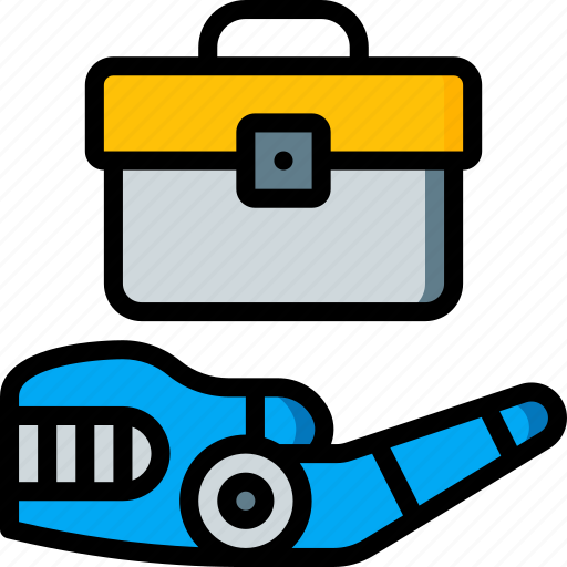 android, artificial, business, intelligence, machine, robot icon