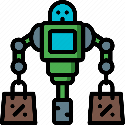 artificial, assistant, bot, intelligence, machine, robot, shopping icon