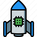 artificial, deployment, intelligence, machine, robot icon