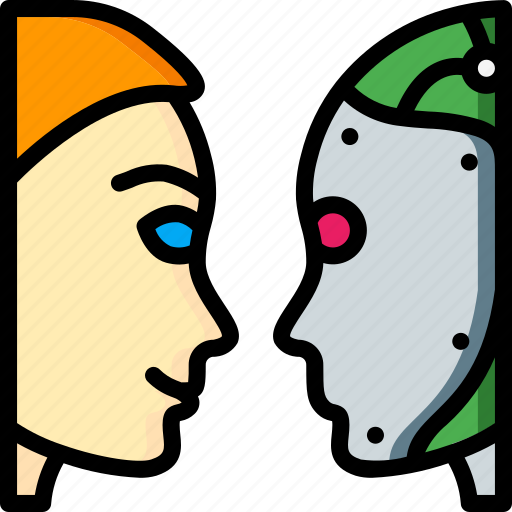artificial, intelligence, machine, robot, test, turing icon
