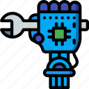 artificial, bot, intelligence, machine, repair, robot icon