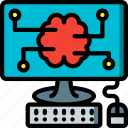 artificial, brain, computer, intelligence, machine, robot icon