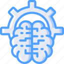 artificial, brain, intelligence, machine, options, robot icon