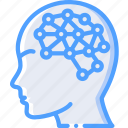 artificial, intelligence, learning, machine, robot icon