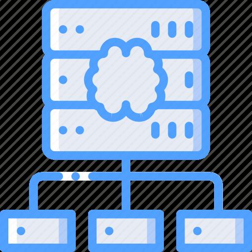 artificial, data, intelligence, machine, network, robot icon