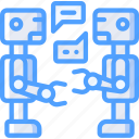artificial, bot, conversation, intelligence, machine, robot icon