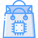 artificial, intelligence, machine, robot, shopping, smart icon