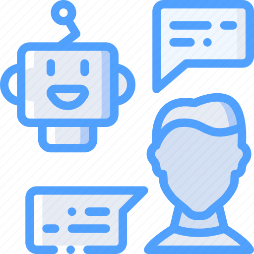 artificial, bot, chat, conversation, intelligence, machine, robot icon