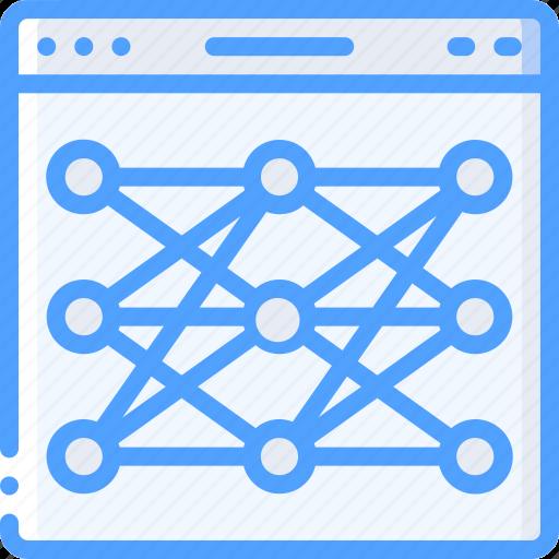 artificial, intelligence, machine, network, neural, robot icon
