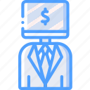 artificial, bot, business, intelligence, machine, robot icon
