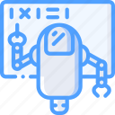 artificial, bot, intelligence, machine, robot, teaching icon
