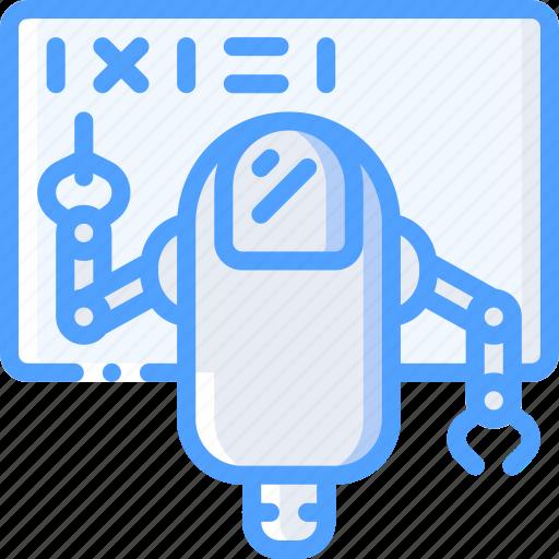 artificial, bot, intelligence, machine, robot, teaching icon