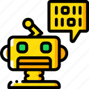 artificial, binary, bot, intelligence, machine, robot icon