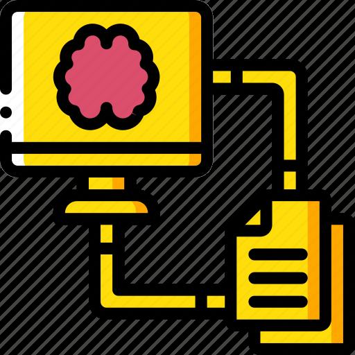 artificial, file, intelligence, machine, robot, transfer icon