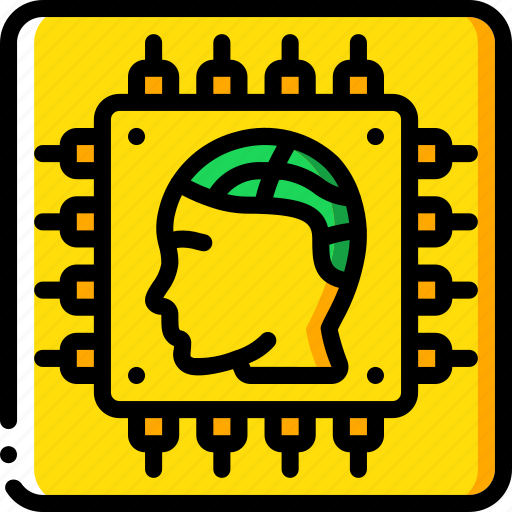 android, artificial, chip, intelligence, machine, robot icon