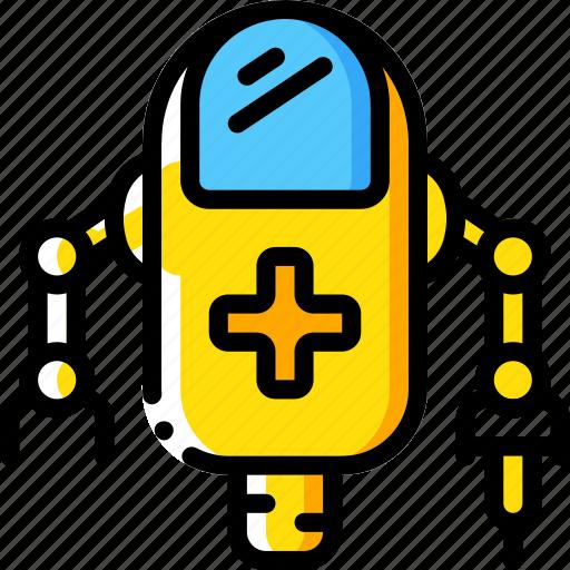 artificial, bot, intelligence, machine, medical, robot icon