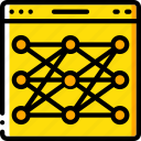 artificial, intelligence, machine, network, neural, robot icon
