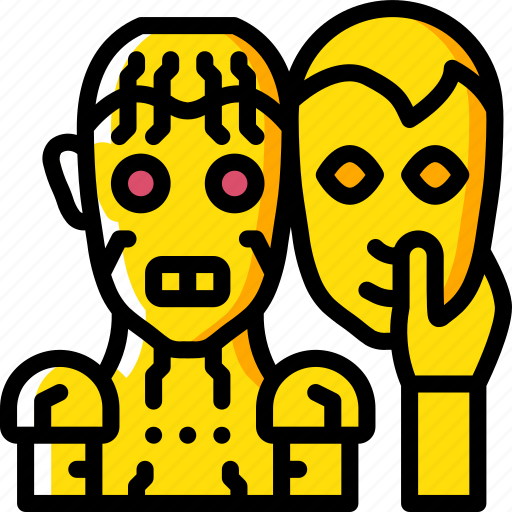 artificial, facial, intelligence, machine, replacement, robot icon