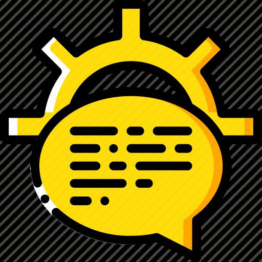 artificial, intelligence, machine, processing, robot, speech icon