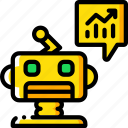 artificial, intelligence, machine, predictions, robot icon