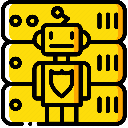 artificial, bot, data, intelligence, machine, robot, secure icon