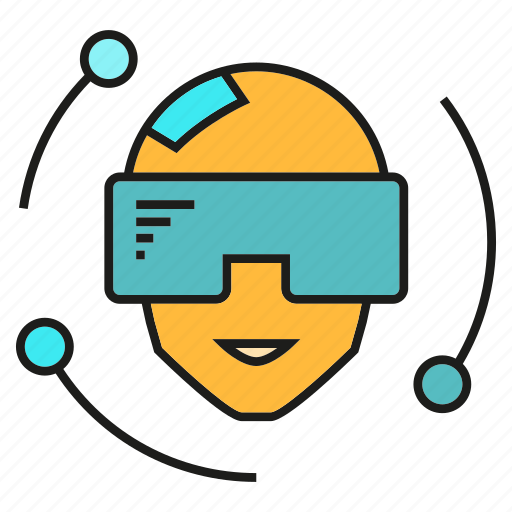 gadget, head, smart, smart glass, technology, virtual reality, vr icon