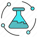 flask, lab, science, test tube, tube, vitro icon