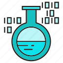 binary, flask, science, tube, lab, chemical, digital
