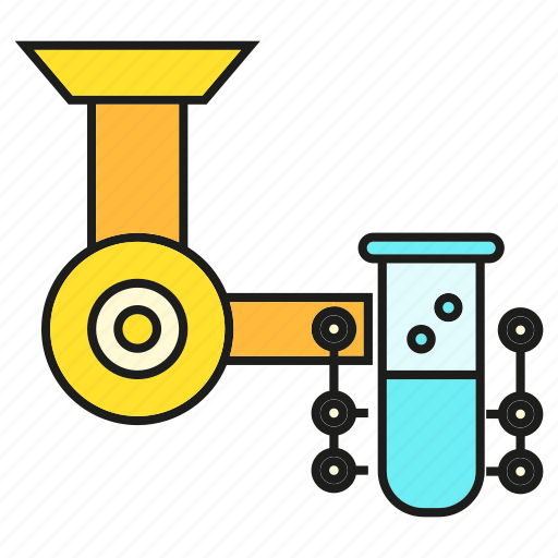 Flask, science, tube, robotics, lab, chemical, experiment icon
