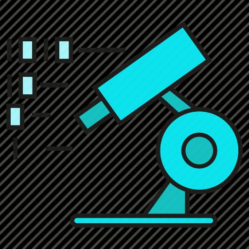 binary, digital, experiment, lab, microscope, science icon