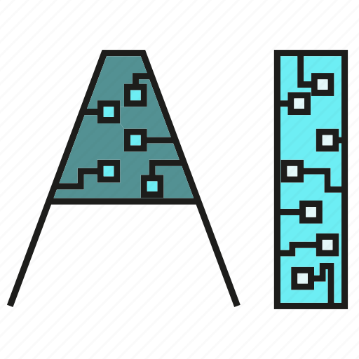 artificial intelligence, circuit, robotics icon