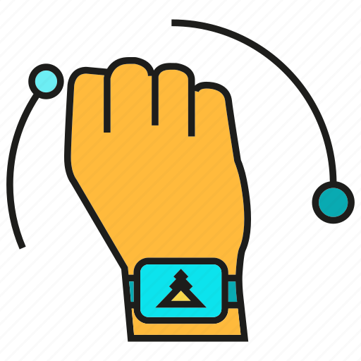 device, gadget, hand, sensor, smart watch icon