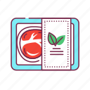 artificial, based, made, meat, nature, packaging, plant icon