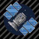 artificial, radar, satellite, station icon